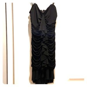 BCBG Black ruffle dress
